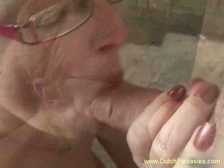 Blondine nederlands milf met bril neuken, gratis porno e0