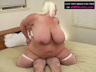 المرأة الجميلة كبيرة gets مارس الجنس كبير وقت سمنة الحمار 2