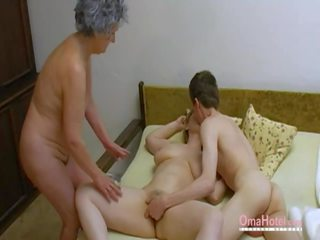Omahotel เก่า เซ็กส์สามคน ขนดก แก่แล้ว masturbation: โป๊ 0d
