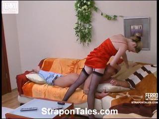 Ninette ו - adrian straponloving pair בפנים פעולה