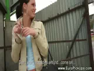 Euro babe amateur picked up on street
