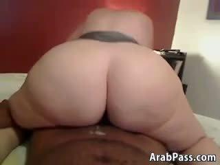 Thick Arab Chick On A Big Black Cock POV