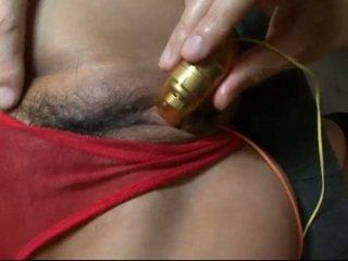 Chinees nymph rumika has haar bearded clam spread door fingers en pricks