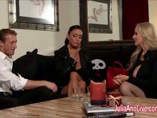 Julia ann & jessica are مقيد, gagged, & مارس الجنس!