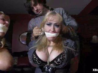 Wild ondeugend verbazingwekkend fetisj bondage rollenspel