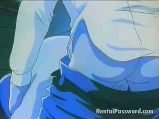 Dazzling blondine manga sweetheart rijden een mbootyive phallus in de slaapkamer