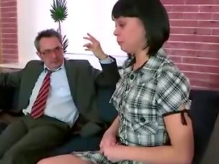 Cute Russian Teen Student Offers Her Tight Pussy Instead of Passing an Exam in Teacher's Office