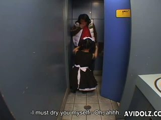 japanse, toilet, aziatisch