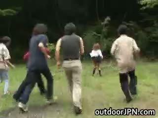 japonisht, interracial, publik