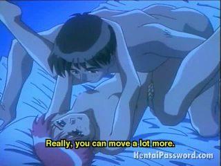 Saucy anime honing making liefde met haar boyfriend in slaapkamer