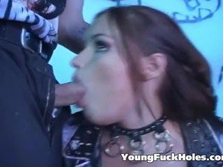 Fan pieprzenie pair rock gwiazdek backstage