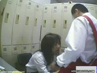 Japonez voieur spycam ascuns camera sexual oral asiatic