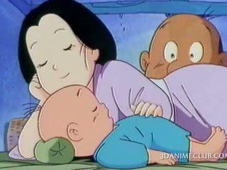 I eksituar anime bashkëshort nailing i vështirë e tij wifes pidh