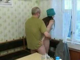 russe, petit seins, oldman