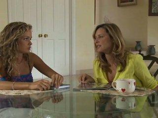 Vechi și tineri lesbiene încercare lor nou leneriej