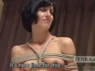 Subtitled Japanese nose BDSM with Elise Graves