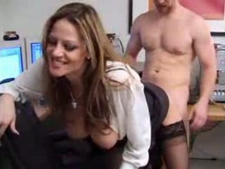 Slutty secretary flirts with her boss Video