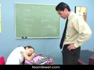 InnocentHigh Teacher Banging Skinny Asian Teens Tight Pussy