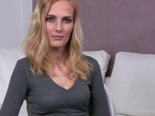Jenny fucked and facialed on her casting