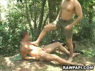 Papi gėjus analinis pounding su cumshots