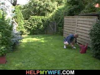 Kone knullet av den gardener med mann der