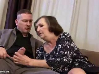 Neglītas resnas vecmāmiņa gets fucked grūti