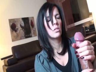 brünette, oral sex, deep