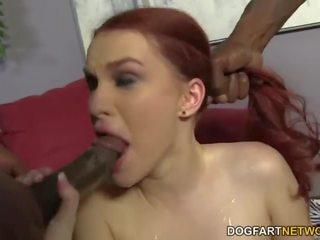 Andrea sky double penetrated by big gara cocks