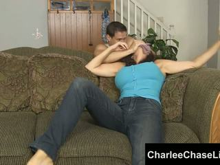 Charlee chase כבול tickled ו - רגל מזוין!