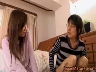 Japanska äldre kvinna has bedårande