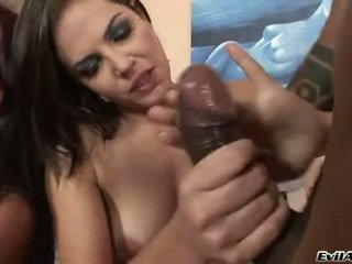 Deepthroating Bobbi Starr Chokes HerSelf On A Black Beefy 10 Pounder And Loved It