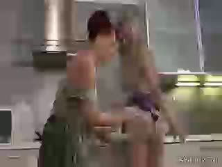 Mom And Sons Gf In Kitchen