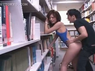 Library hardcore fucking with hot asian tramp in