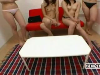 Subtitled pov japans hogeschool slaapzaal harem teasing