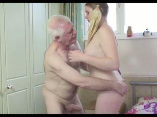 Sıcak eski adam n genç bayan