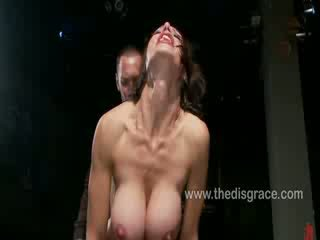 McKenzie Lee gagged with cock and made to cum