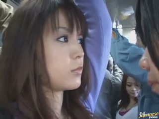 Upskirt Shot Of A Cute Chinese In A Crowded Bus