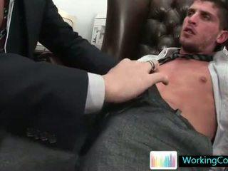 Shane sucking and fucking his future boss