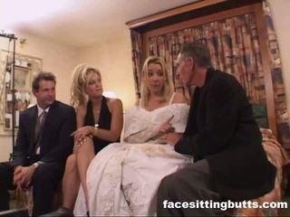 Bride-to-be got un desagradable facial, gratis facesitting butts porno vídeo
