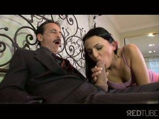 oral sex, vaginal sex, caucasian, cum shot, licking vagina, black-haired