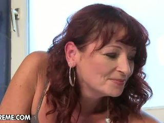 Lusty Grandmas: Mature bitch gets fucked by young dude