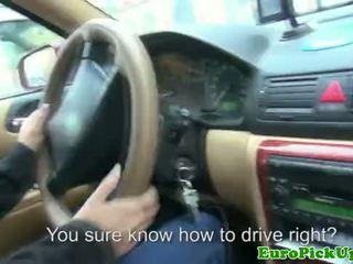 Echt euro babes creampie in haar taxi
