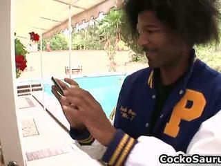 Reusachtig boezem van amerikaans zuigen zwart cork hard video-