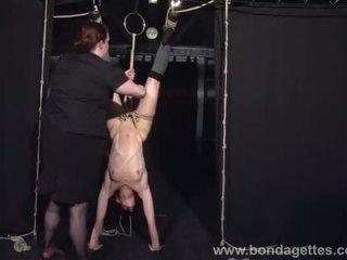 Restrained bondage babe Elise Graves l...