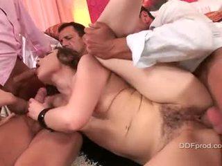 brunete, jauns, hardcore sex