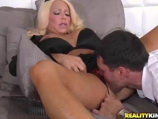 group sex, busty blonde katya, blowjob