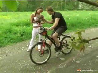 Geboord door de cyclist