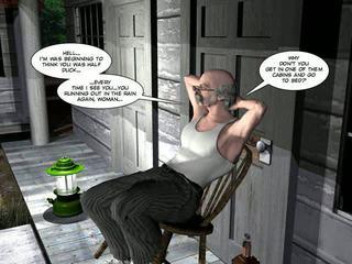 shemale, karikatura, 3d comics