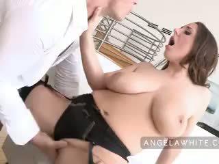 brunette, orale seks, deepthroat