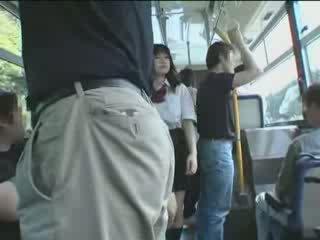 japanese, schoolgirl, bus